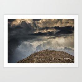 Pyramid Of The Sun Art Print