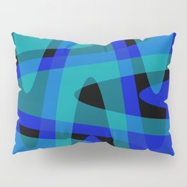 Pastel Waves 2 - Blue Pillow Sham