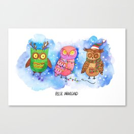 Christmas Owlies v2.0 Canvas Print