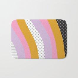 Abstract Print - Mixed Colors and Patterns Wavy Lines Bath Mat
