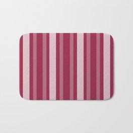 Raspberry Victorian Lady Stripe Bath Mat