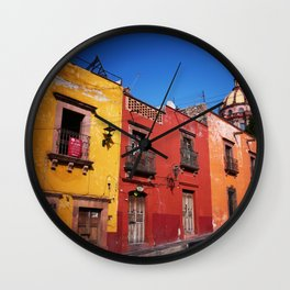 Colorful Architecture Wall Clock