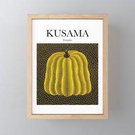 Kusama - Pumpkin Framed Mini Art Print