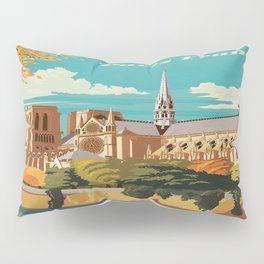 Vintage poster - Paris Pillow Sham