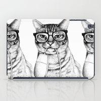hipster iPad Cases featuring Mac Cat by florever