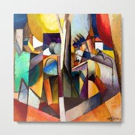 Albert Gleizes Cubist Landscape Metal Print