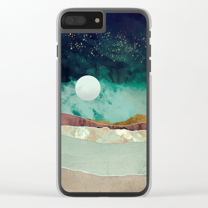 Spring Night Clear iPhone Case