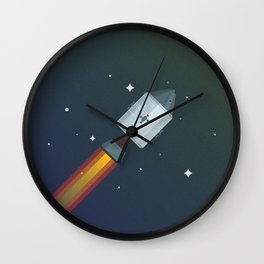 Famous Spaceships - Apollo CSM Wall Clock