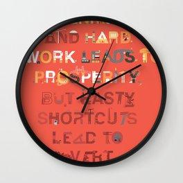 Good planning Wall Clock