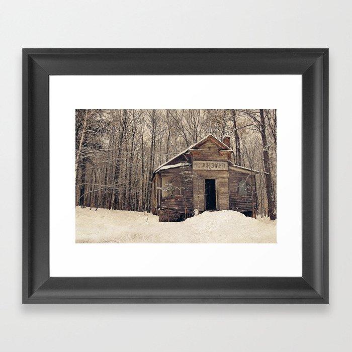 Mission Chapel Framed Art Print