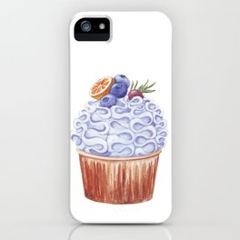 Fruity cupcake iPhone Case