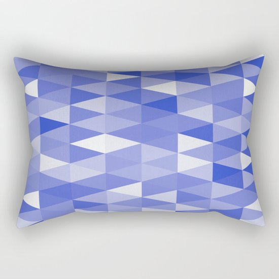 Triangles In Blue Rectangular Pillow