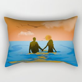 Together to Infinity III (Sunset) Rectangular Pillow