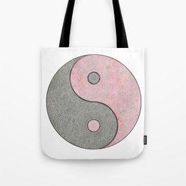 Yin Yang Esoteric Symbol Pastel Pink And Grey Tote Bag