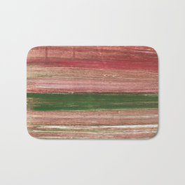 Light taupe abstract watercolor Bath Mat