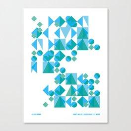 Voyages typographiques — Vingt mille lieues sous les mers Canvas Print