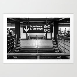 Downtown New York City Subway Art Print