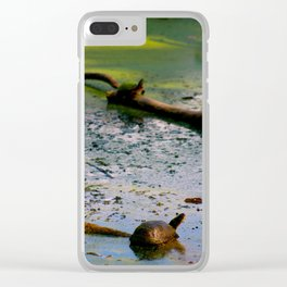 Turtle Lookout Clear iPhone Case