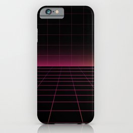 Darksynth Grid Lines iPhone Case