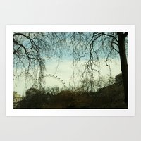 In the Park; London, England Art Print