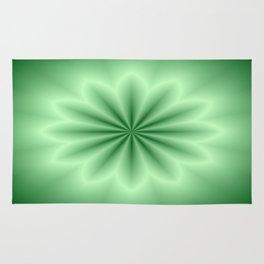 Green Abstract Star Rug