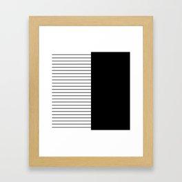 Striped Solid Black Framed Art Print
