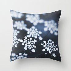 flower - blue lace Throw Pillow