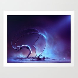 We are dancing in our chains Art Print