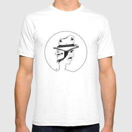 2 Hat Face T-shirt
