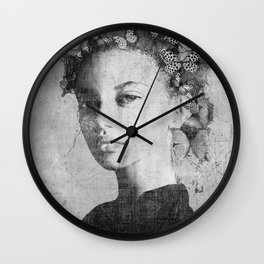 PORTRAIT (Woman with butterflies) Wall Clock
