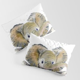 Hello,Anybody At Home? - Baby Elephant Pillow Sham