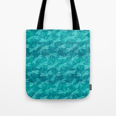 Dragonfly Dance Blue Green Tote Bag