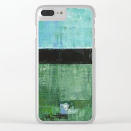 Sky Blue Sky Contemporary Abstract Landscape McNulty Clear iPhone Case