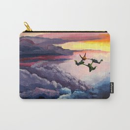 Sky-Diving Acrylic Carry-All Pouch