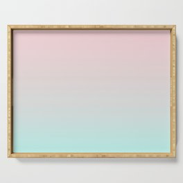 Pastel Ombre Millennial Pink Mint Gradient Serving Tray
