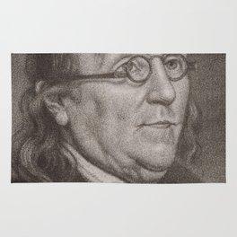 Vintage Portrait of Ben Franklin (1787) Rug