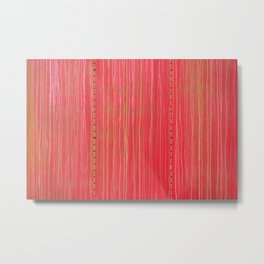 Streaked and Weathered Red Riveted Metal Metal Print