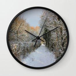 Winter Walkway Wall Clock