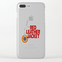 Red Leather Jacket Clear iPhone Case
