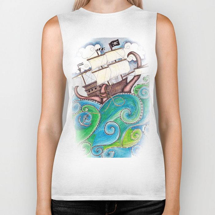 Pirate Peril Biker Tank