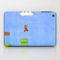 mario bros iPad Cases featuring Super Mario Bros. by Theodore Parks