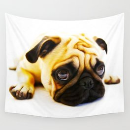 Pouting Pug - Cute Little Dog - Amazing Oil painting Wall Tapestry