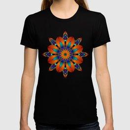 Decorative kaleidoscope flower with tribal patterns T-shirt