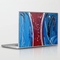 dress Laptop & iPad Skins featuring Red Dress by RvHART