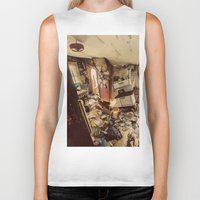 kitchen Biker Tanks featuring Chaotic Kitchen by Shaun Lowe