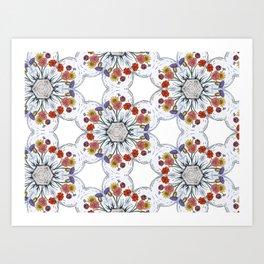 Blossom Pattern Flower Art Print