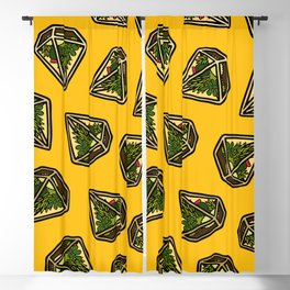 Terrarium Pattern in Yellow Blackout Curtain