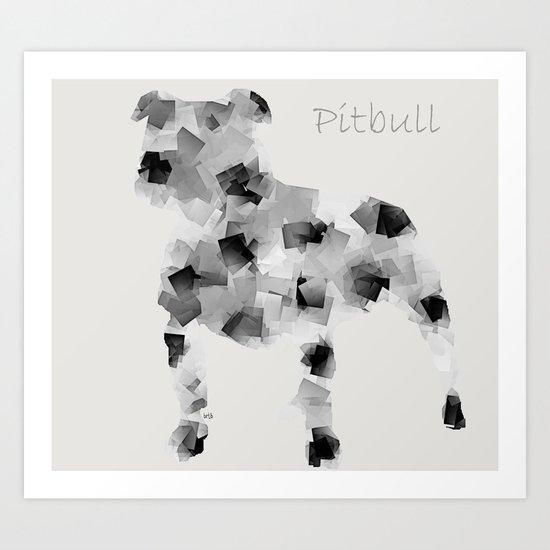 the pit bull dog  Art Print