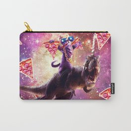 Thug Space Cat On Dinosaur Unicorn - Pizza Carry-All Pouch