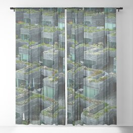 Stacked House Sheer Curtain